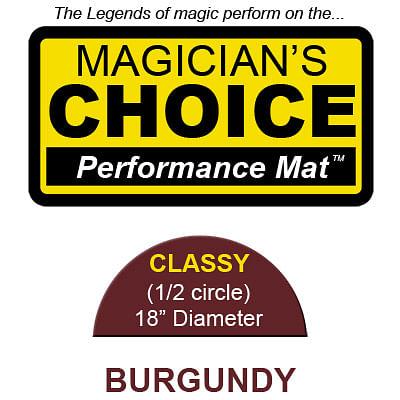 Classy Close-Up Mat (BURGUNDY - 18 inch) - magic