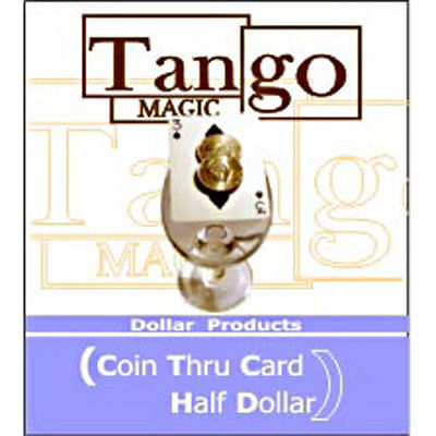Coin thru Card - Half Dollar - magic