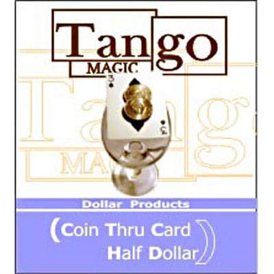 Coin thru Card - Half Dollar - magic