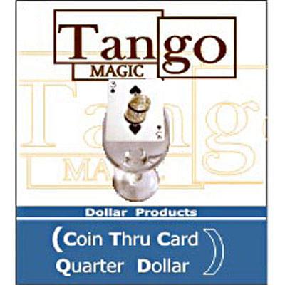 Coin thru Card - Quarter Dollar - magic
