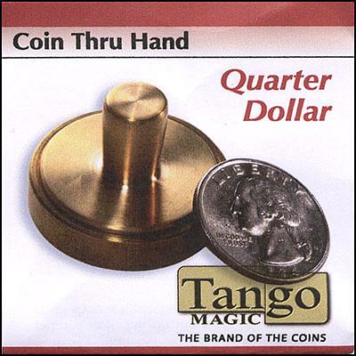 Coin thru Hand - Quarter Dollar - magic