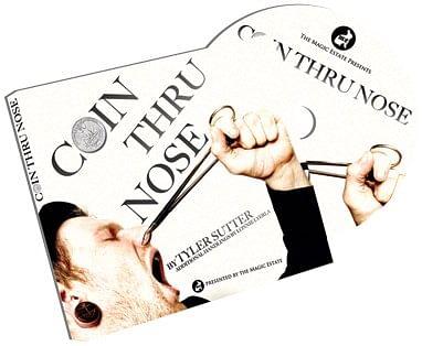 Coin Thru Nose - magic