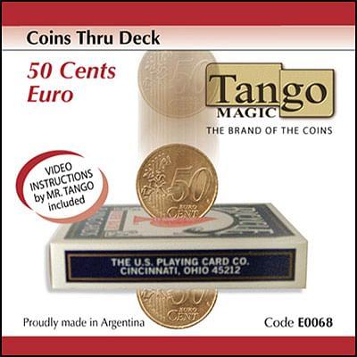 Coins thru Deck - 50 Euro cents - magic