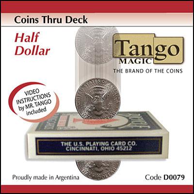 Coins thru Deck - Half Dollar - magic