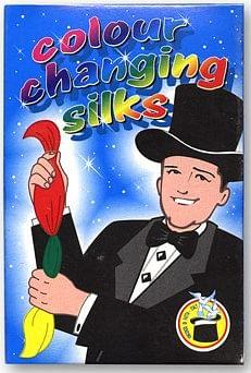 "Color Changing Silks 4 Color Silks 9"" - magic"