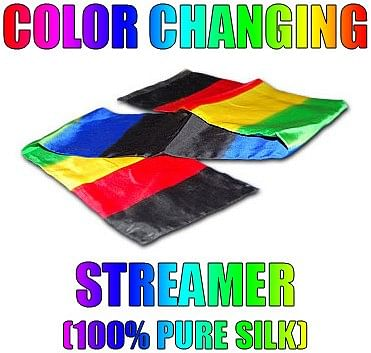 Color Changing Streamer 100% Silk - magic