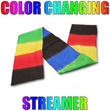 Color Changing Streamer - magic