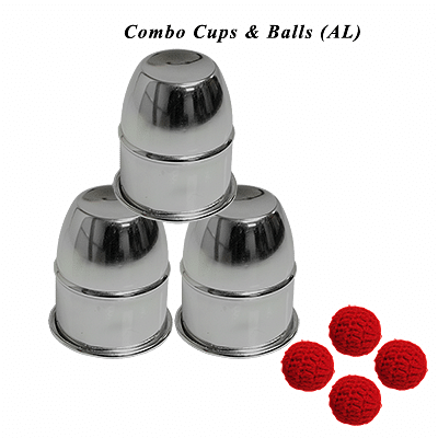 Combo Cups & Balls (Aluminium) - magic