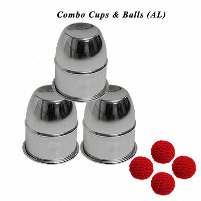 Combo Cups & Balls (Aluminium) - magic