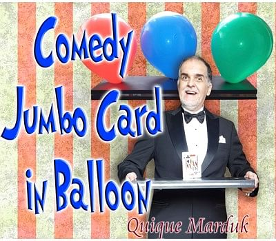 Comedy Card In Balloon - magic