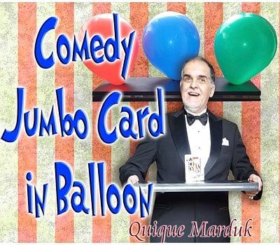 Comedy Card In Balloon - magic