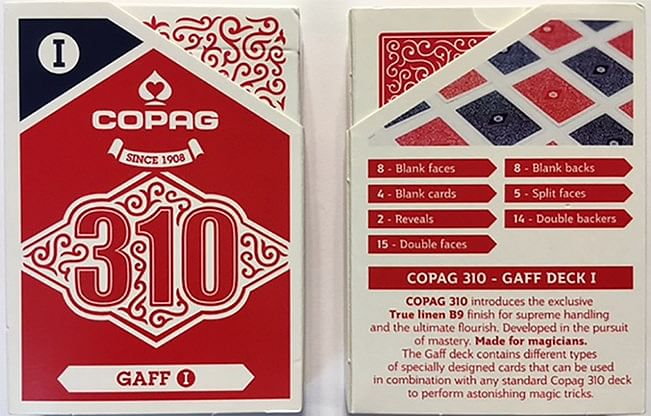 Copag 310 Gaff Playing Cards - magic