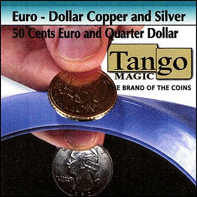 Copper and Silver - 50 Euro Cents/Quarter Dollar - magic