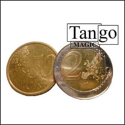 Copper and Silver - 2 Euros and 50 Euro Cents - magic