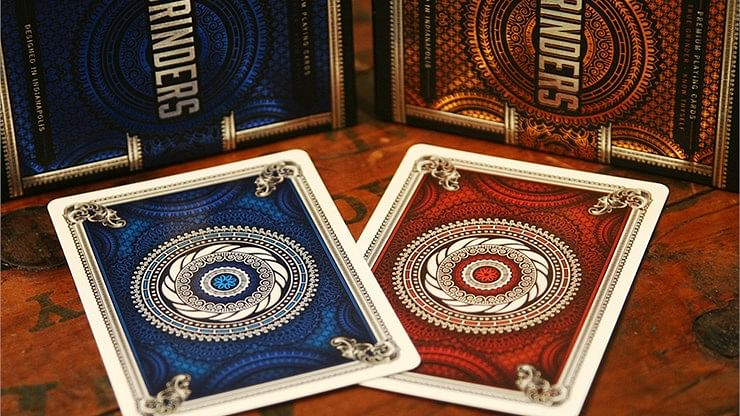 Grinders Copper Playing Cards