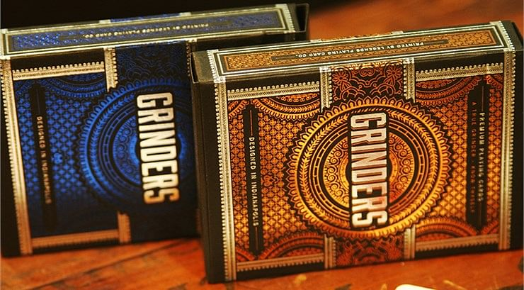 Grinders Copper Playing Cards - magic