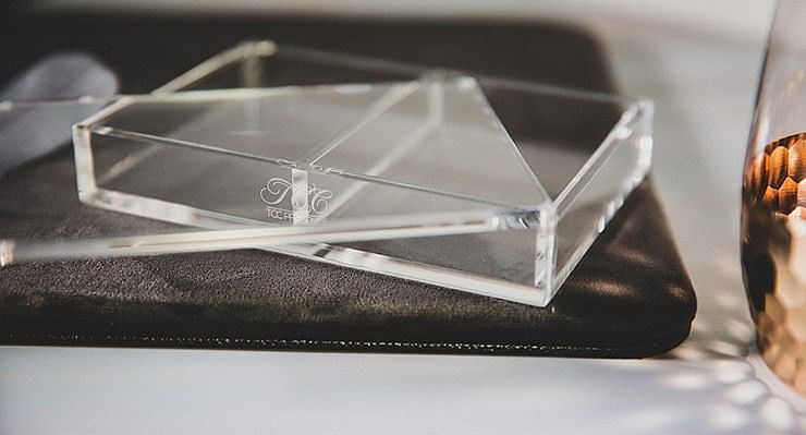 Crystal Playing Card Display
