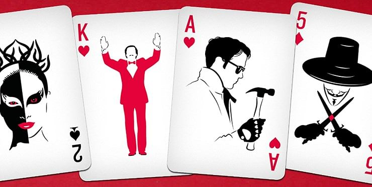 Cult Movie Cards of Magicians Playing Card