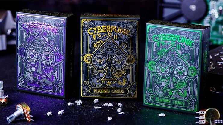 Cyberpunk Green Playing Cards
