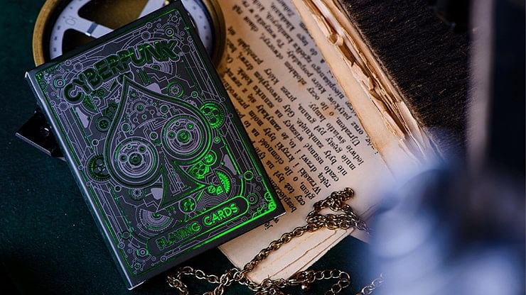 Cyberpunk Green Playing Cards - magic