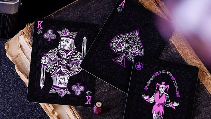 Purple Cyberpunk Playing Cards