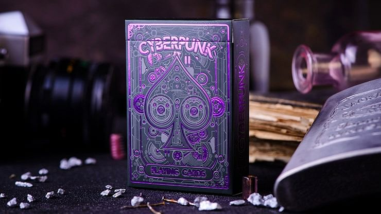 Purple Cyberpunk Playing Cards  - magic