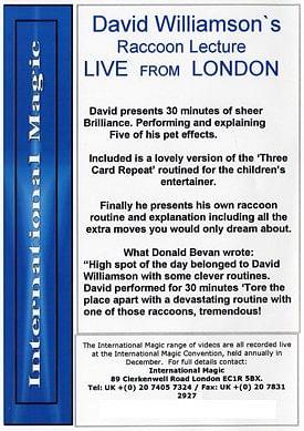 David Williamson Raccoon Lecture