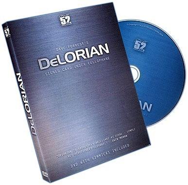 DeLorian Signed Card Under Cellophane - magic