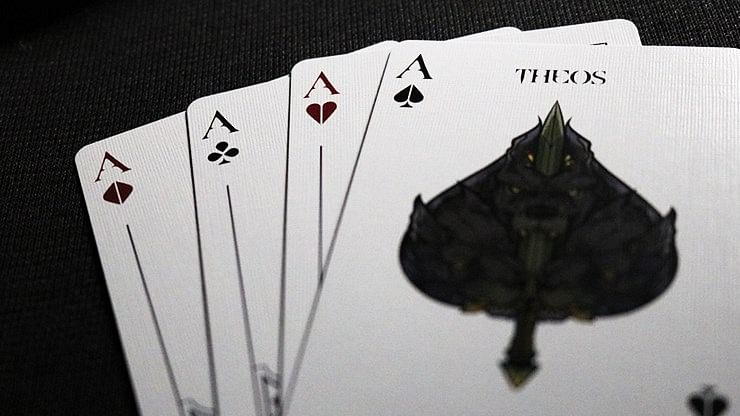 Theos Limited Edition Purple Playing Cards