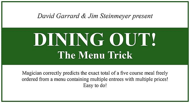 Dining Out! The Menu Trick - magic