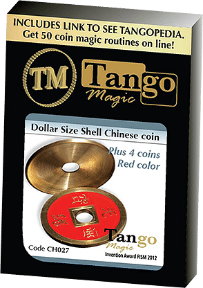 Dollar Size Shell Chinese Coin - magic