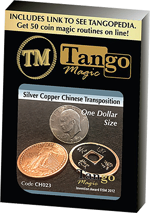 Dollar Size Silver Copper Chinese Transposition - magic