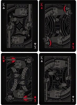 Double Black Playing Cards