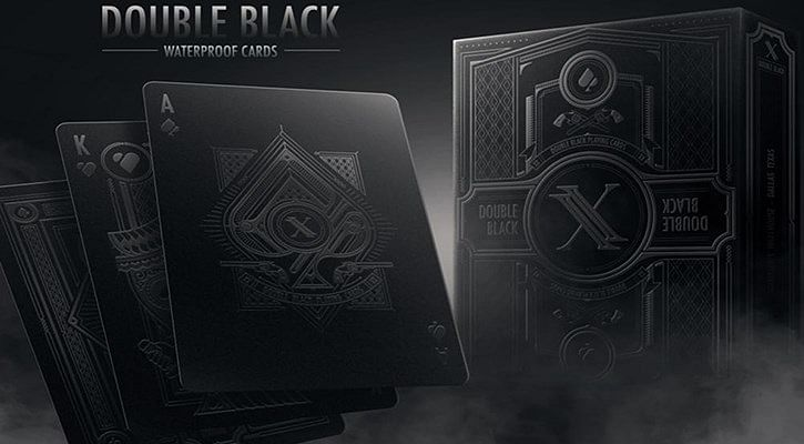 Double Black Waterproof Playing Cards - magic