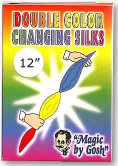 Double Color Changing Silk 12 inch - magic
