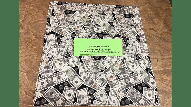 Double Pocket Money Production/Vanish Change Foulard - magic