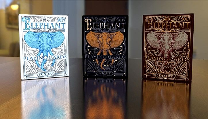 Elephant Playing Cards - Desert
