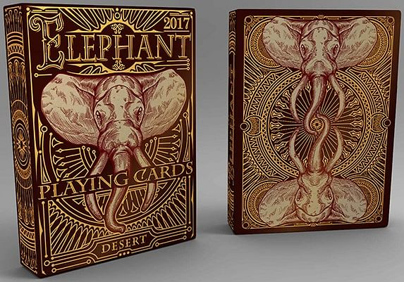 Elephant Playing Cards - Desert - magic
