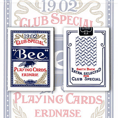 Erdnase 1902 Bee Playing Cards - Blue Smith No. 2 Back (Cambric Finish)  - magic