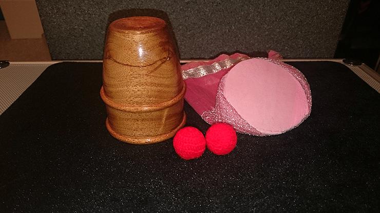 Exotic Wooden Chop Cup - magic