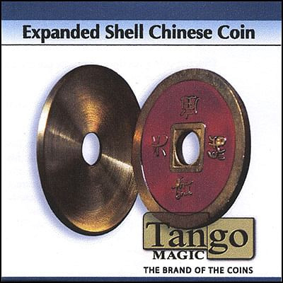 Expanded Shell - Chinese Coin - Brass (Red) - magic