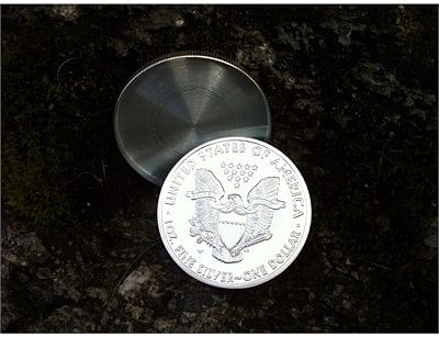 Expanded shell - Silver Eagle Proof (Tails)