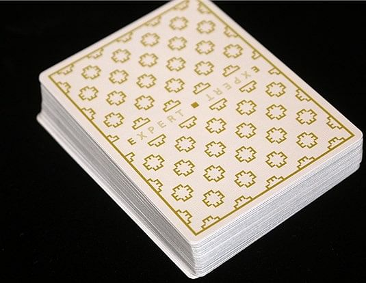 The Expert at the Card Table Playing Cards (White)