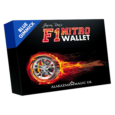 F1 Nitro Wallet Blue (DVD and Gimmick) - magic