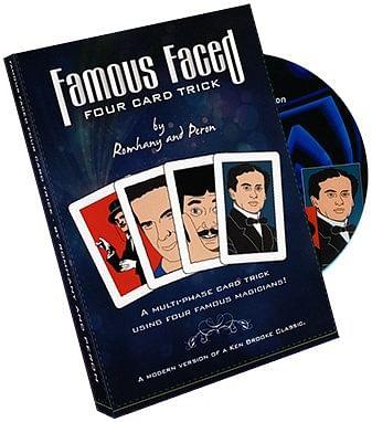 Famous Faced - Four Card Trick - magic