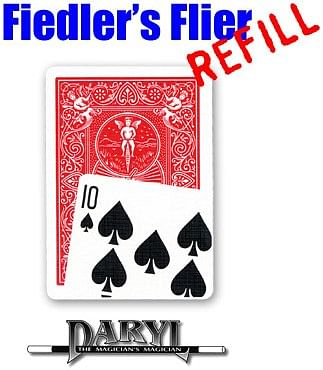 Fiedler's Flier Refill - red-back Ten of Spades - magic