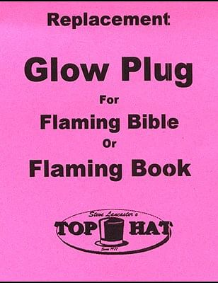 REPLACEMENT Glo Plug for Flaming Book/Bible - magic