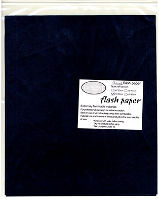 Flash Paper Black 25cm x 20cm (Five Pack) - magic