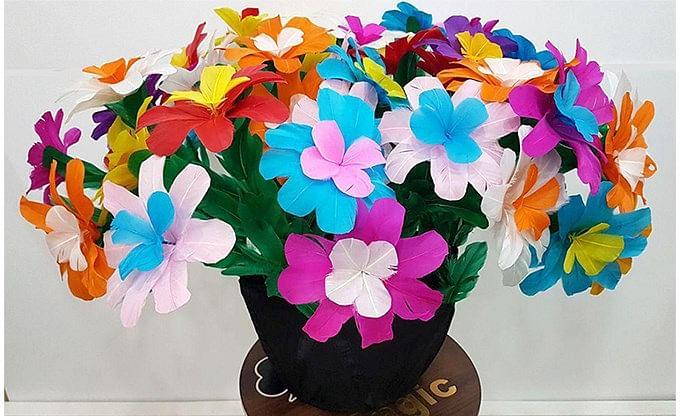 Flower Bouquet From Silk - magic