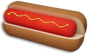 Foam Hot Dog & Bun - magic